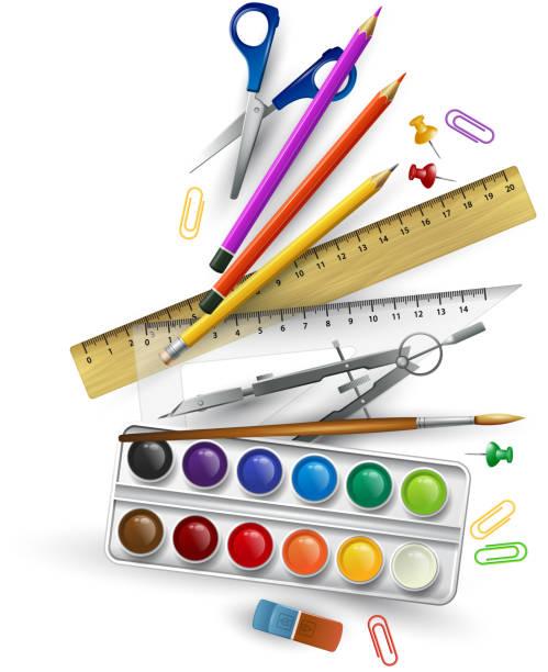 School supplies. Vector illustration vector art illustration