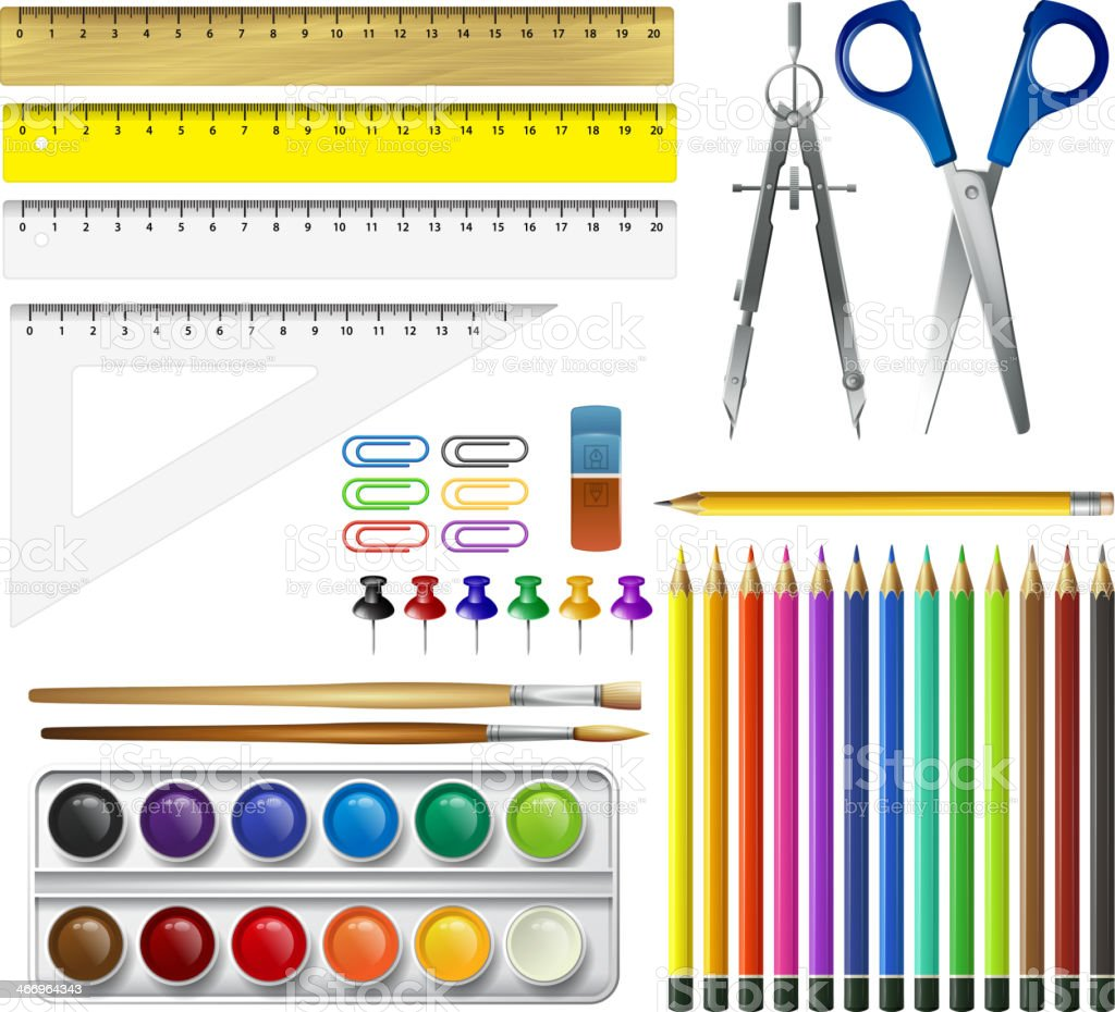School supplies. Vector illustration vector art illustration