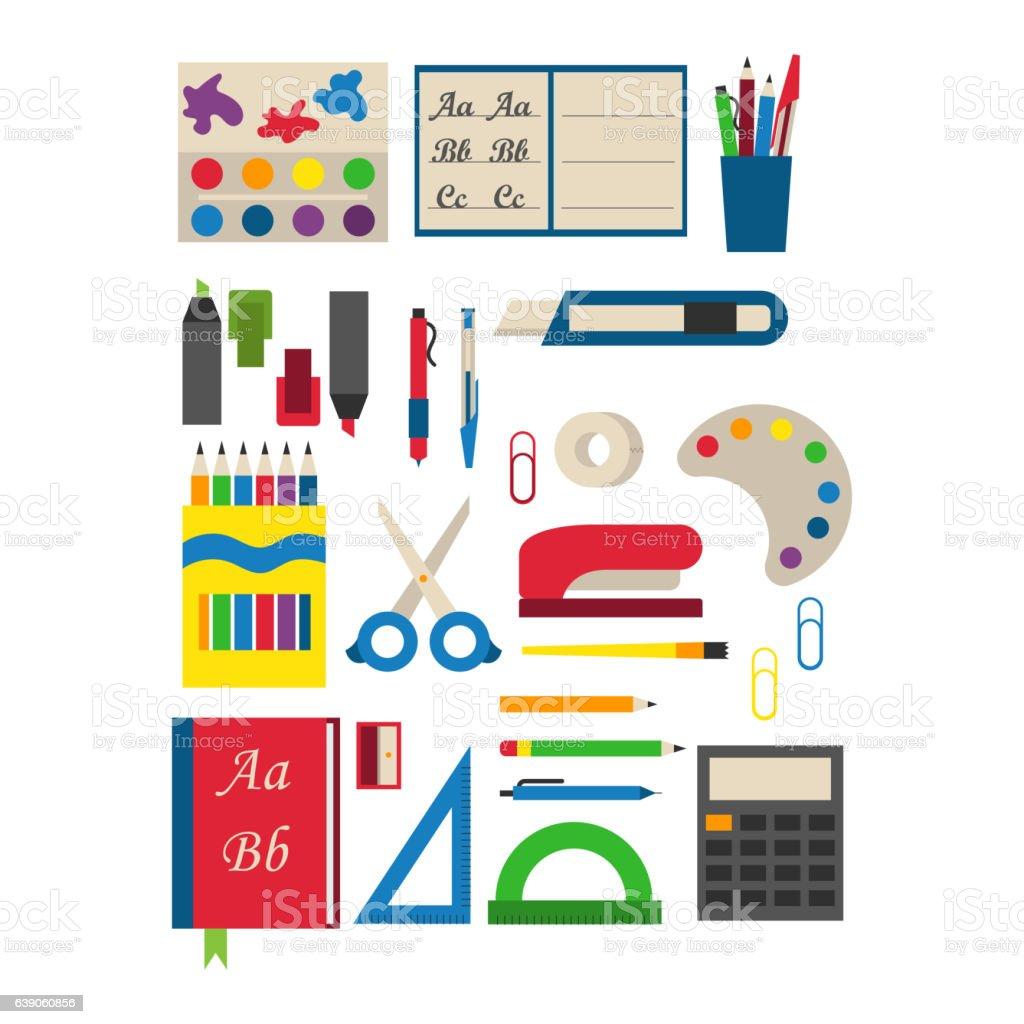 学校用品ベクトルイラストレーションます。 ベクターアートイラスト