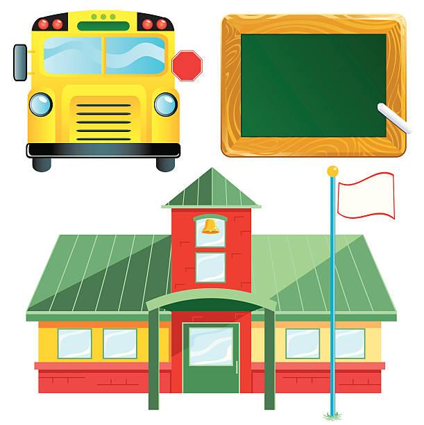 schule symbole - grundschule stock-grafiken, -clipart, -cartoons und -symbole