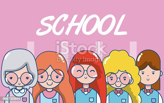 School Teachers And Students Stock Vector Art & More Images of Art 964793644