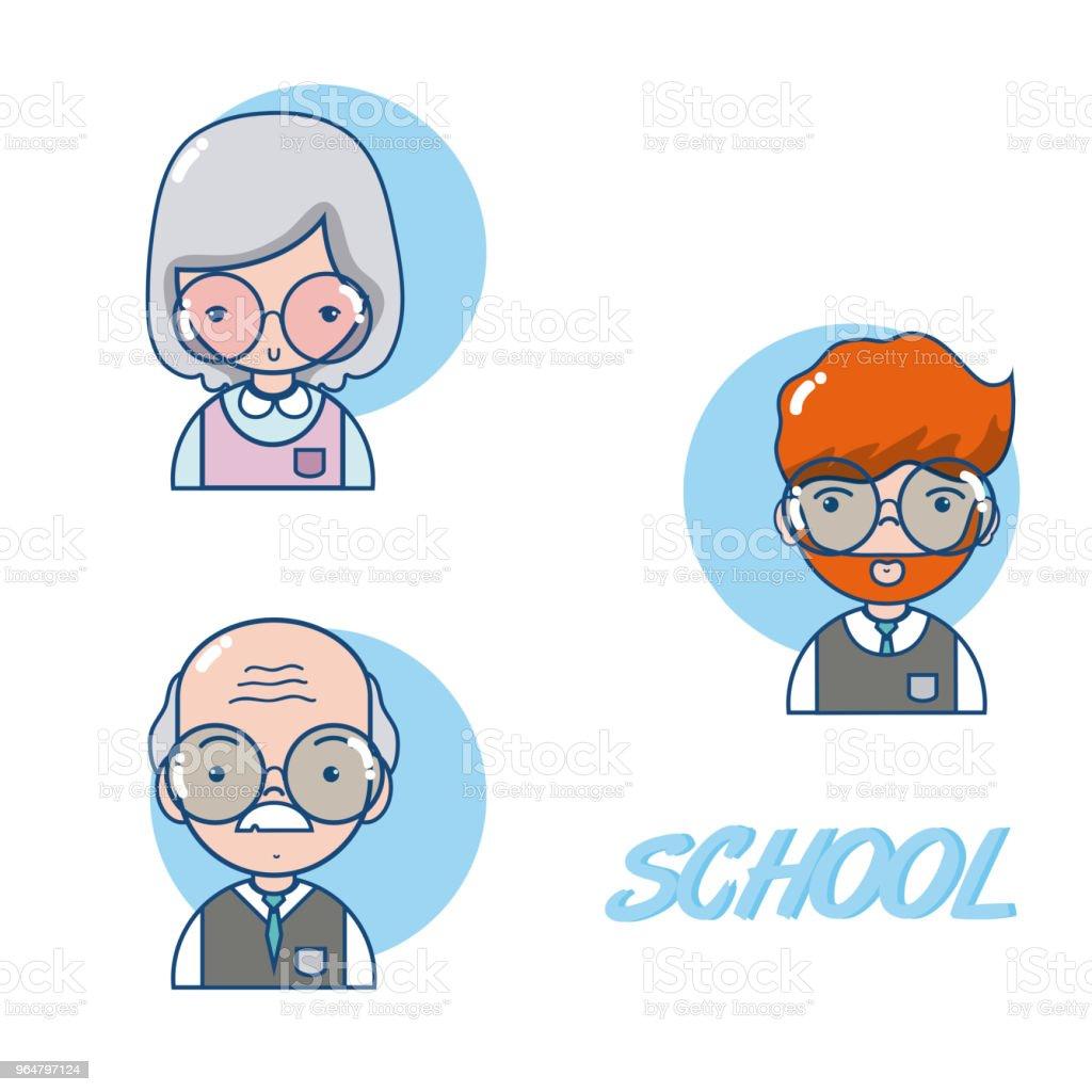 School teachers cartoon royalty-free school teachers cartoon stock vector art & more images of no people