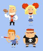 School Teen Adolescents Characters