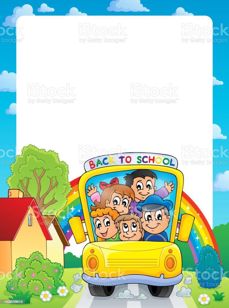 School theme frame 9 royalty-free stock vector art