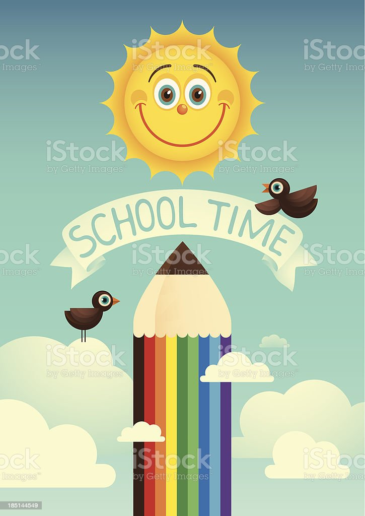 School time, poster. royalty-free school time poster stock vector art & more images of alphabet