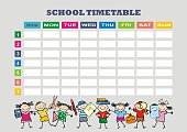 School timetable, eps