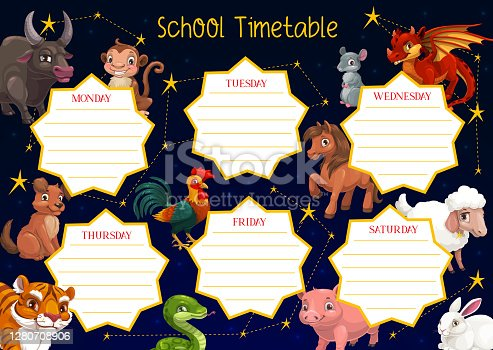 istock School timetable template of education schedule 1280708906