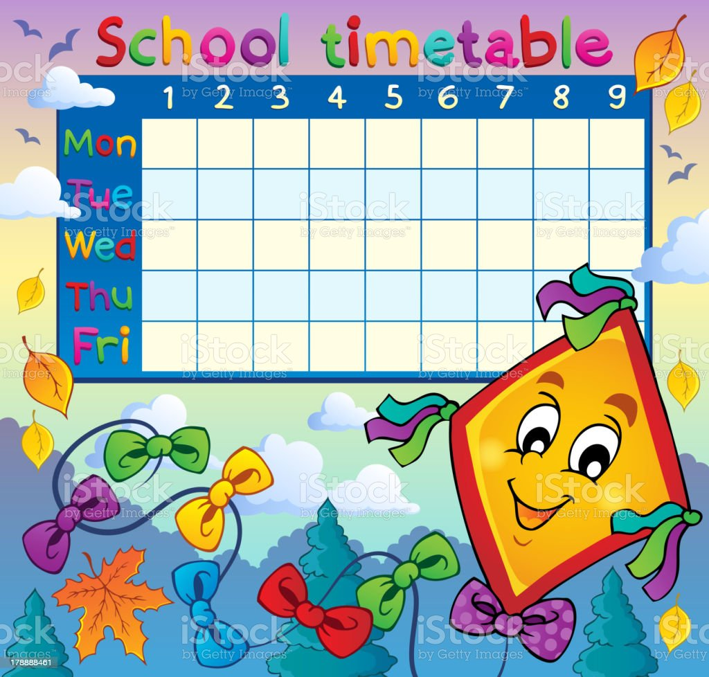 School timetable thematic image 8 royalty-free stock vector art