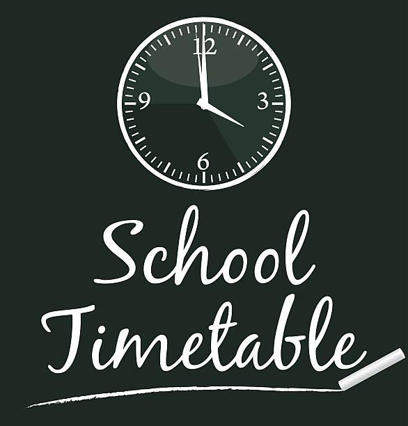 School Zeitplan.  Vektor-illustration II. – Vektorgrafik