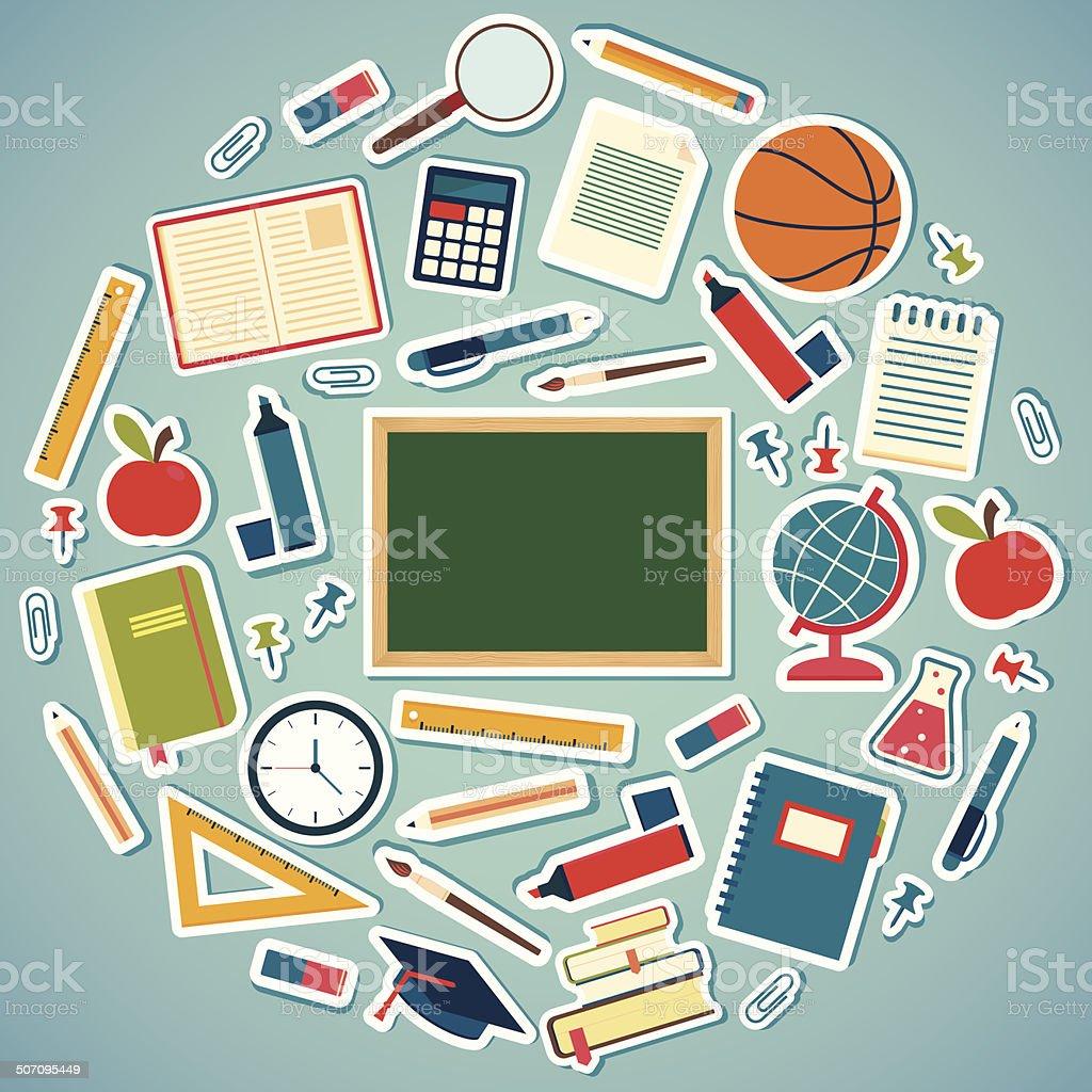Herramientas escolares y art culos de oficina en fondo for Herramientas de oficina