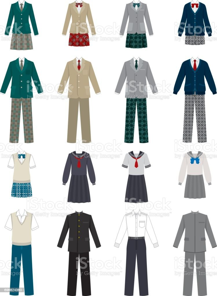 School uniform royalty-free school uniform stock illustration - download image now