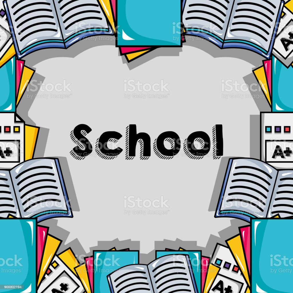 school utensils to education background design vector art illustration