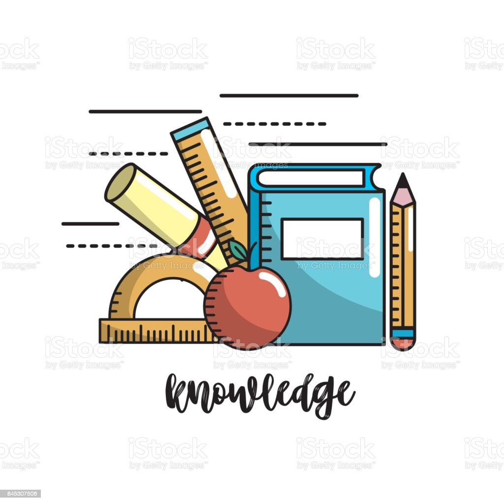 School utensils to education knowledge design stock vector art school utensils to education knowledge design royalty free school utensils to education knowledge design stock voltagebd Images