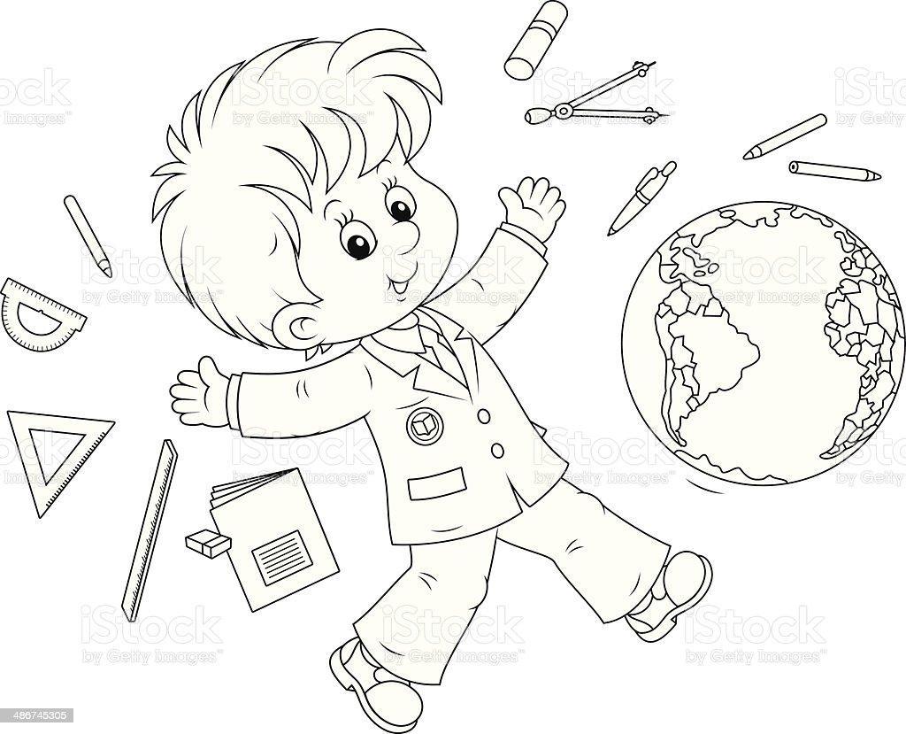 School vacation vector art illustration