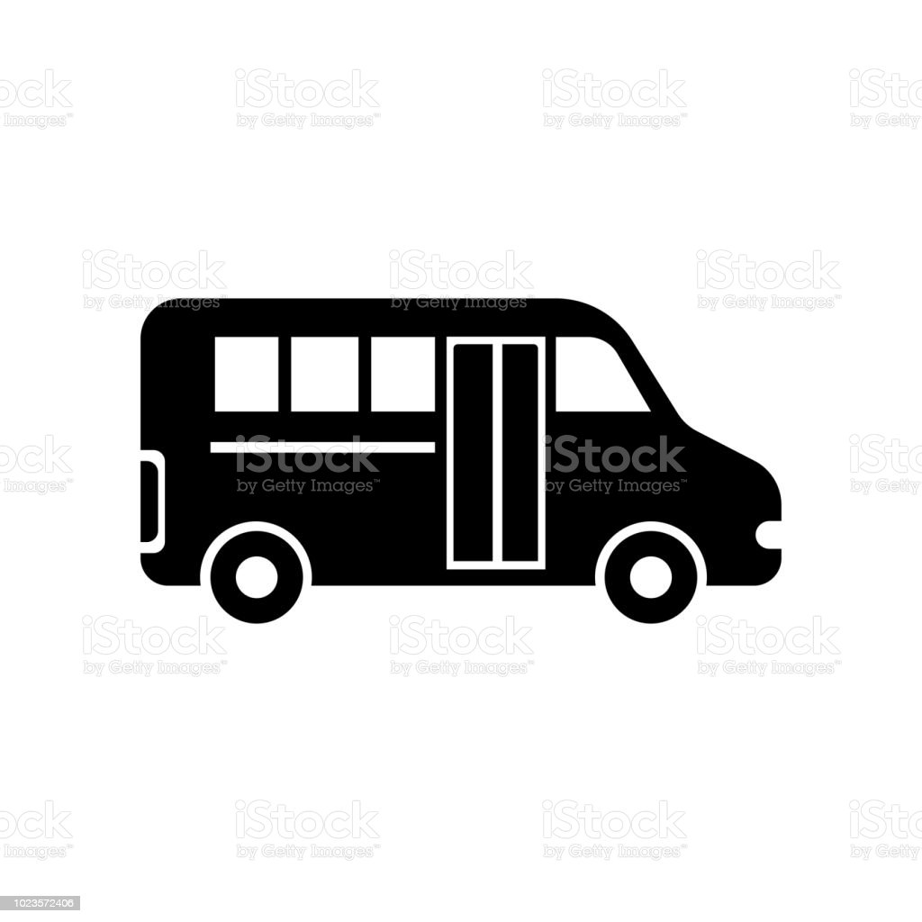 9d82cf792d6 School Van Icon Vector Sign And Symbol Isolated On White Background ...