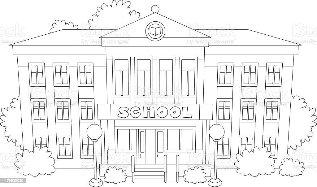 School vector art illustration