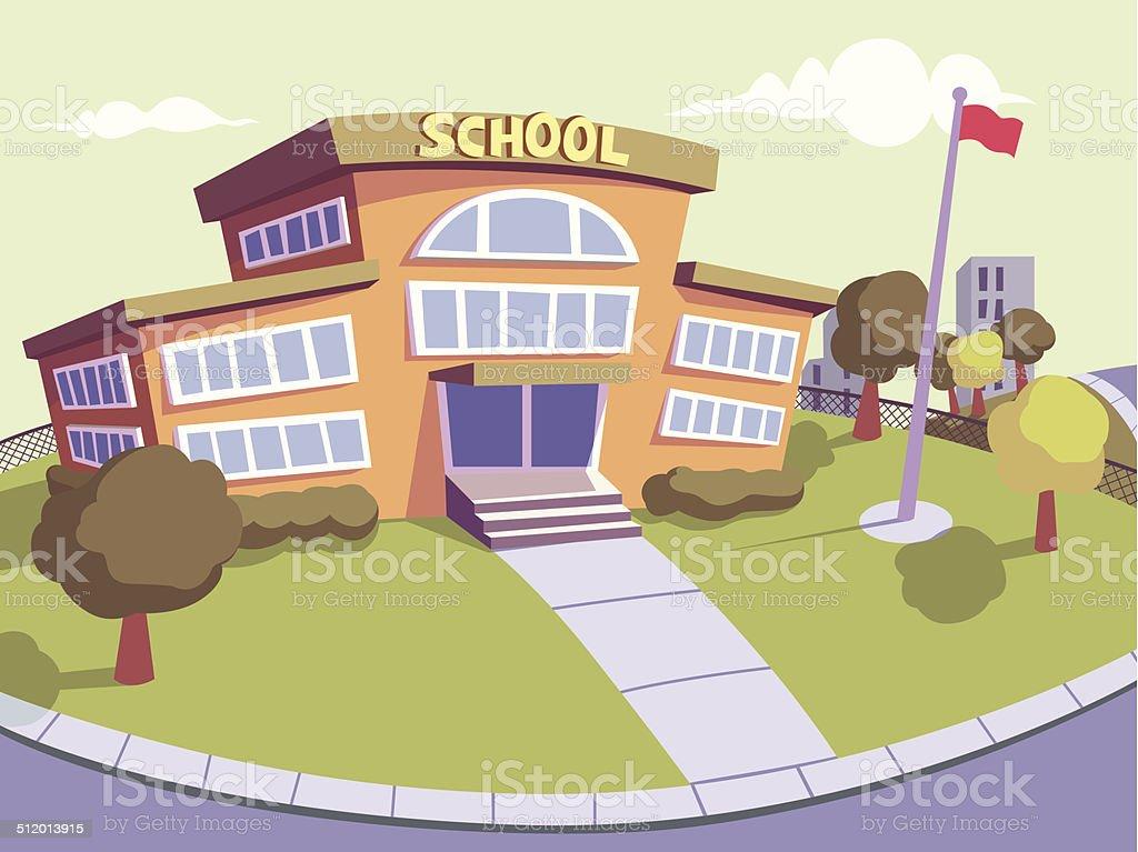 Escuela secundaria - ilustración de arte vectorial