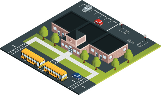 School with Buses