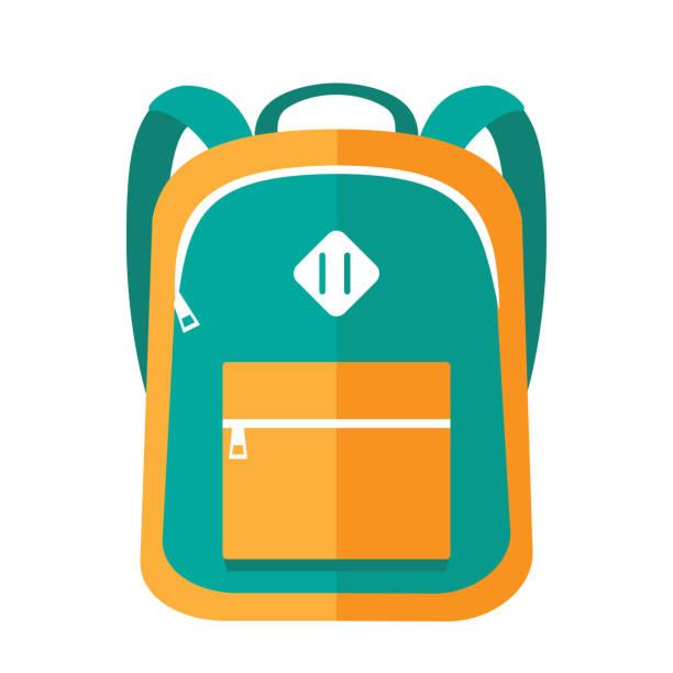 stockillustraties, clipart, cartoons en iconen met school_bag01 [omgezet] - schooltas
