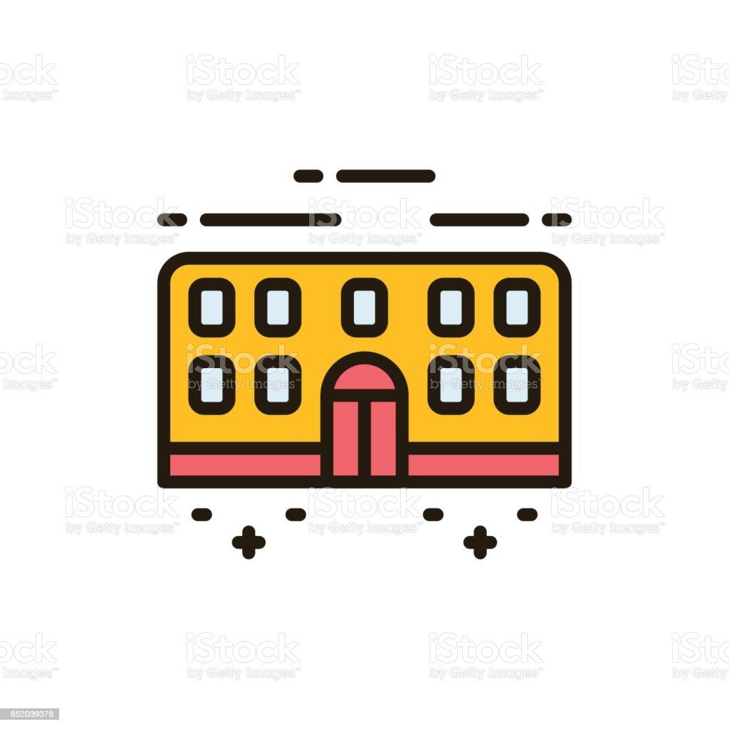 School_icons vector art illustration