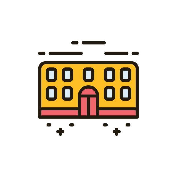 school_icons - gymnasium stock-grafiken, -clipart, -cartoons und -symbole