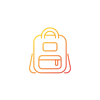 Schoolbag gradient linear vector icon