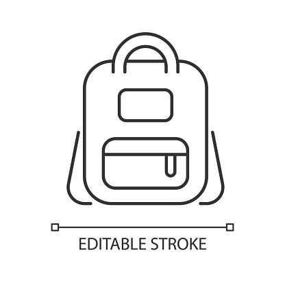Schoolbag linear icon
