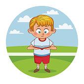 Schoolboy cute cartoon