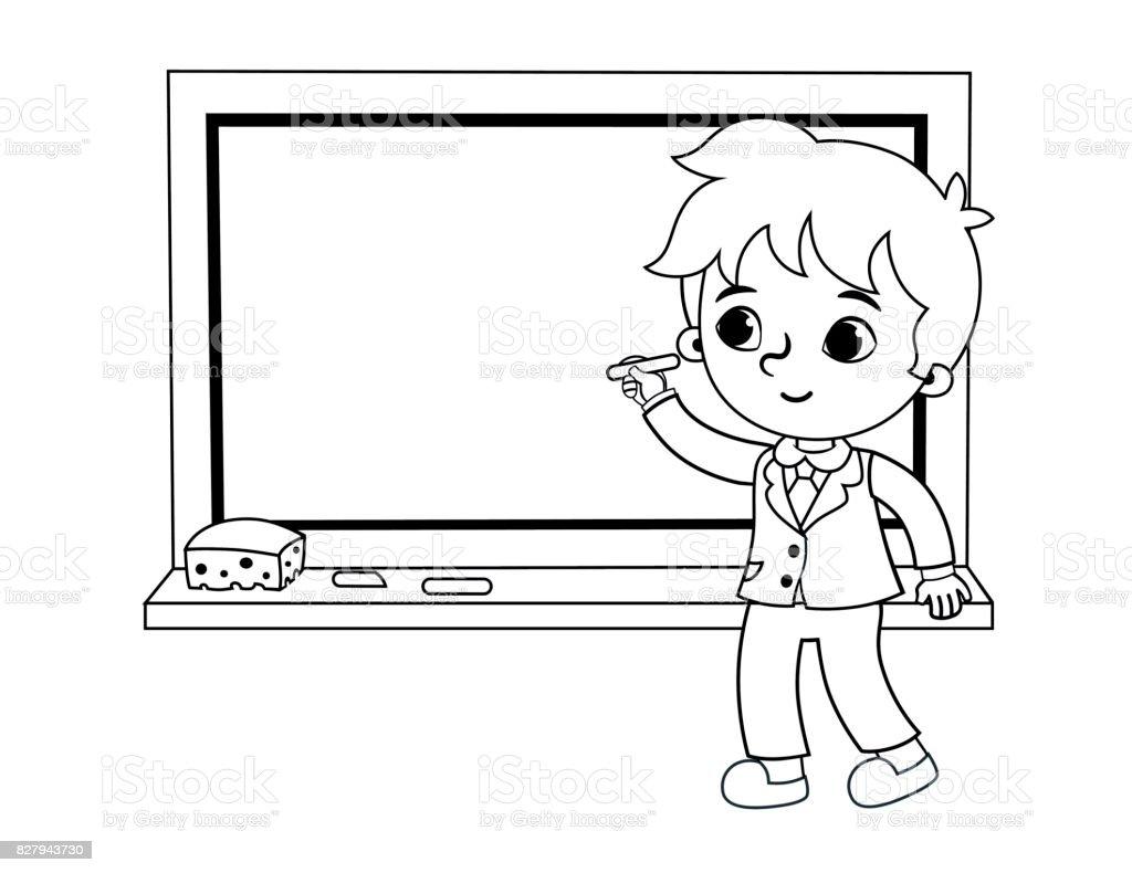Ilustración De Niño Escribiendo En La Pizarra Y Más Vectores Libres
