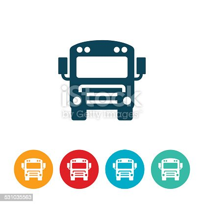 istock Schoolbus Icon 531035563