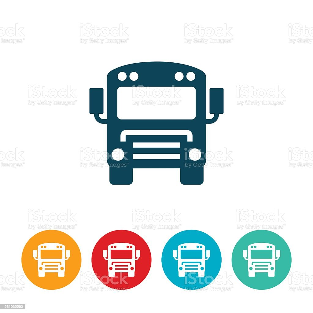 Schoolbus Icon vector art illustration