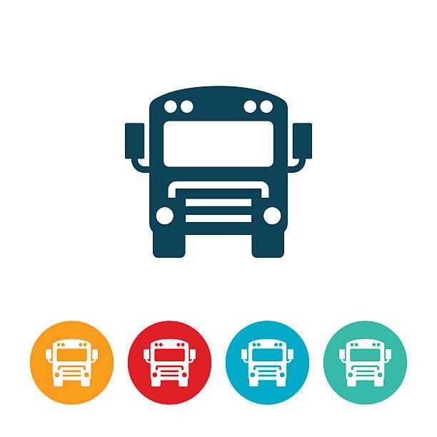 Schoolbus Icon vector art illustration