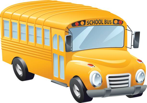 Schoolbus vector art illustration