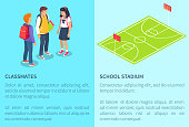 Schoolchildren from Secondary School and Stadium
