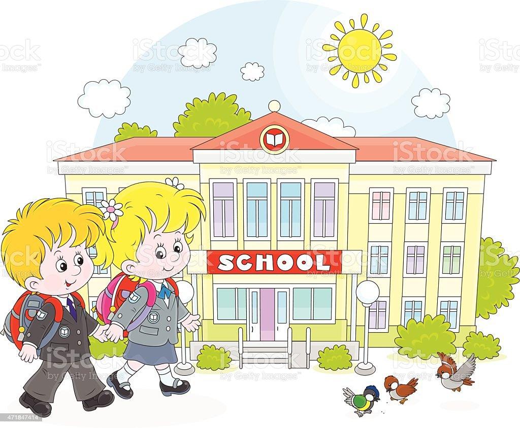 子供に学校 2015年のベクターアート素材や画像を多数ご用意 Istock