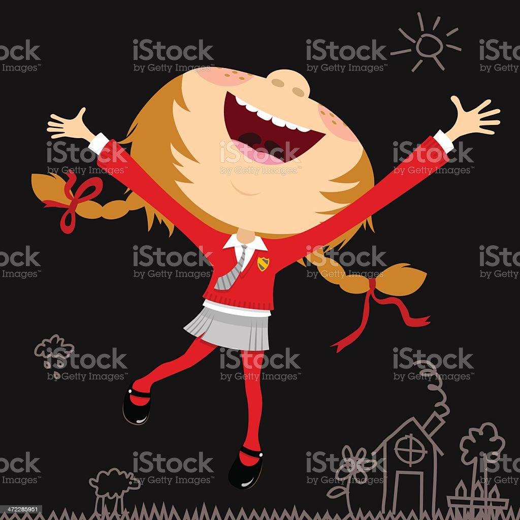 schoolgirl royalty-free stock vector art
