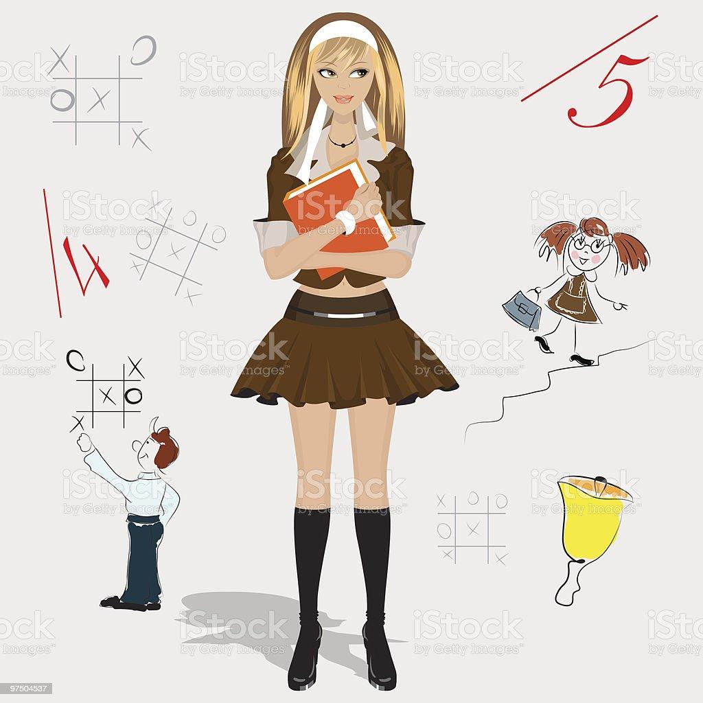 schoolgirl royalty-free schoolgirl stock vector art & more images of beautiful people