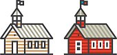 Schoolhouse line icon