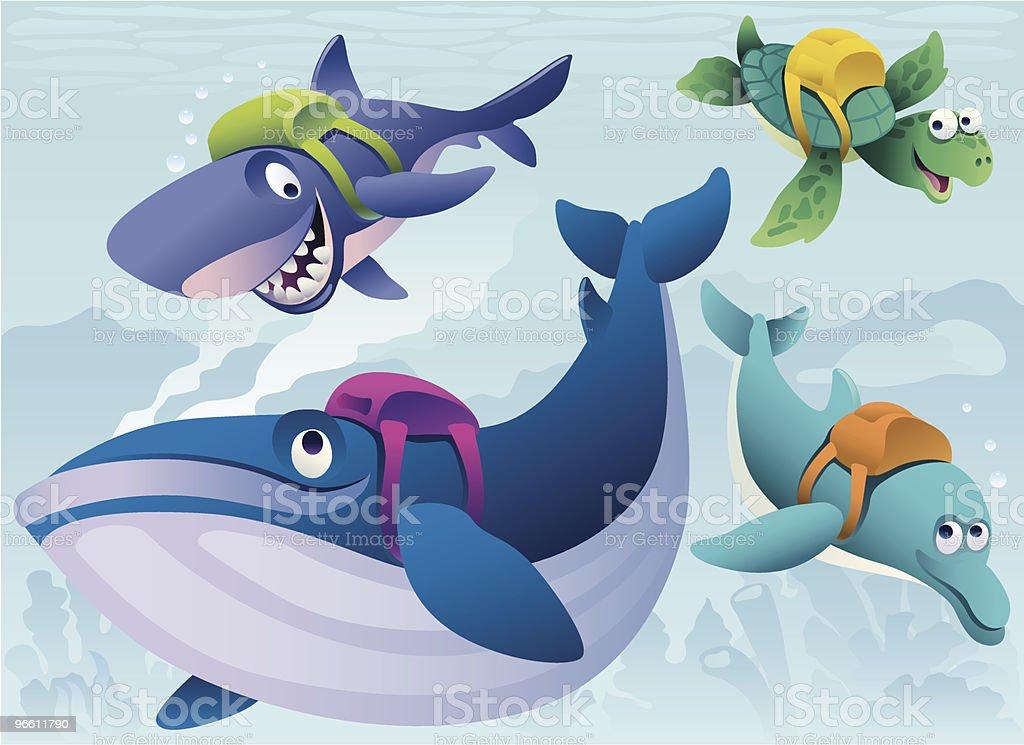 schoolmates - Royalty-free Animal Themes stock vector