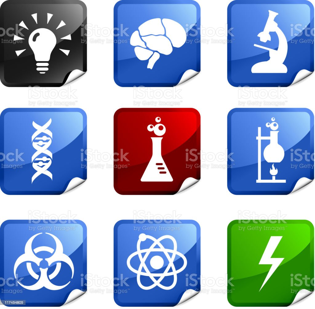 science and chemistry nine royalty free vector icon set royalty-free stock vector art