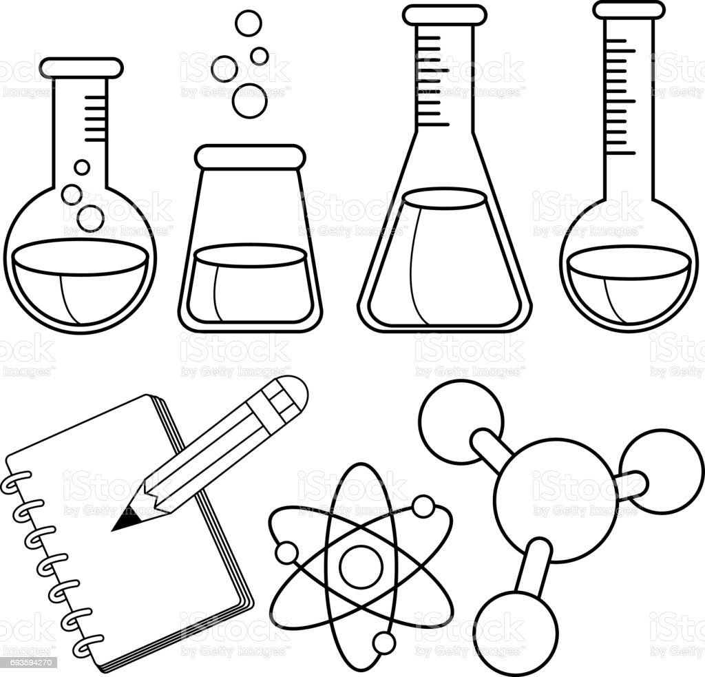 Chemistry Coloring Pages Clip Art Vector Images Illustrations