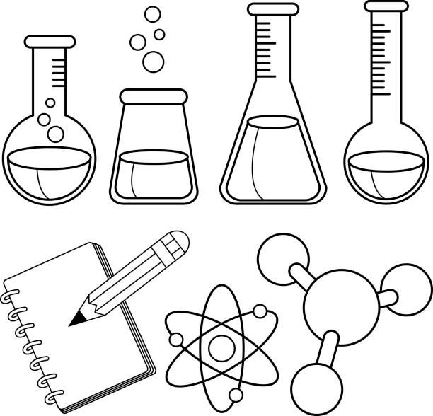Best Chemistry Coloring Pages Illustrations, Royalty-Free