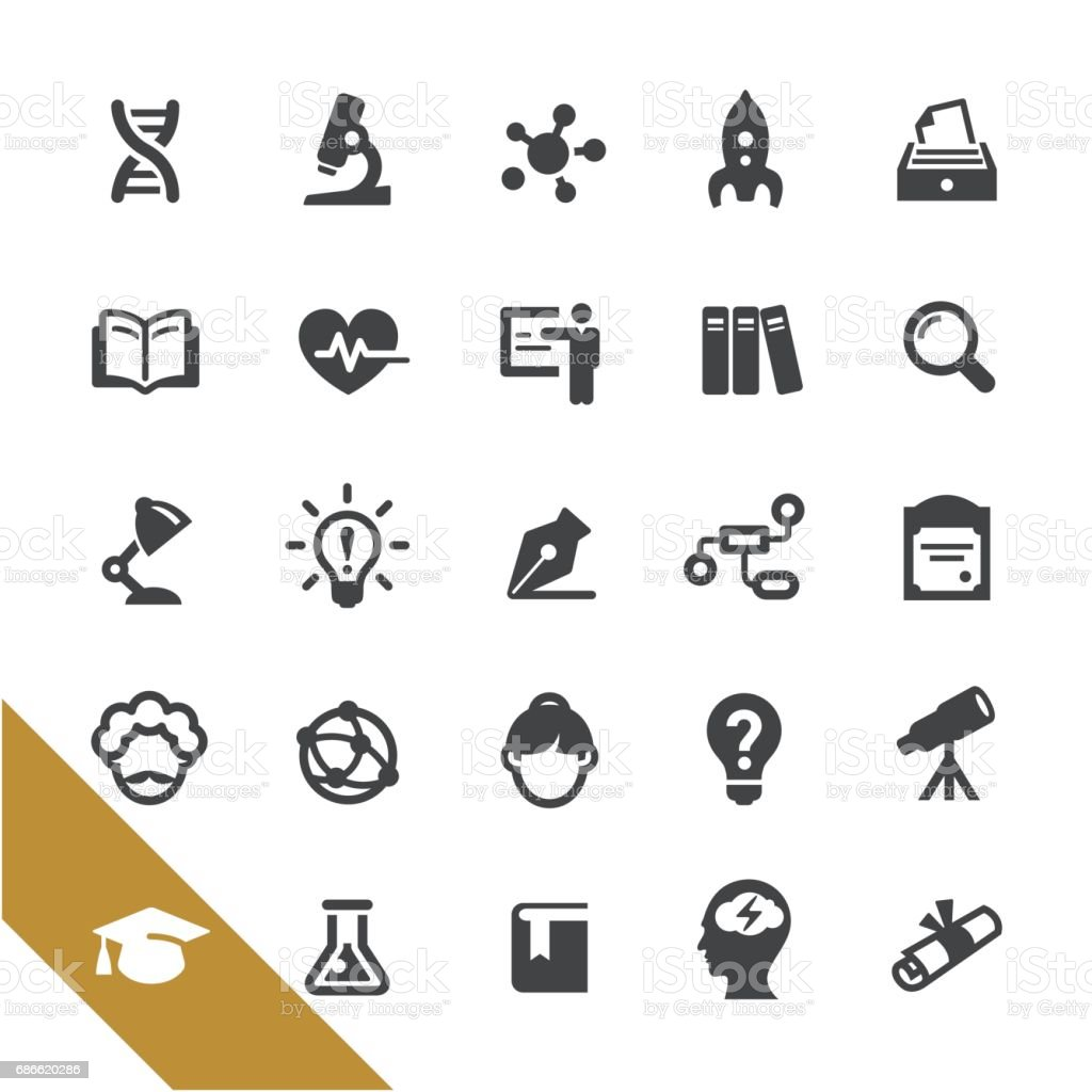 Science and Education Icons - Select Series vector art illustration