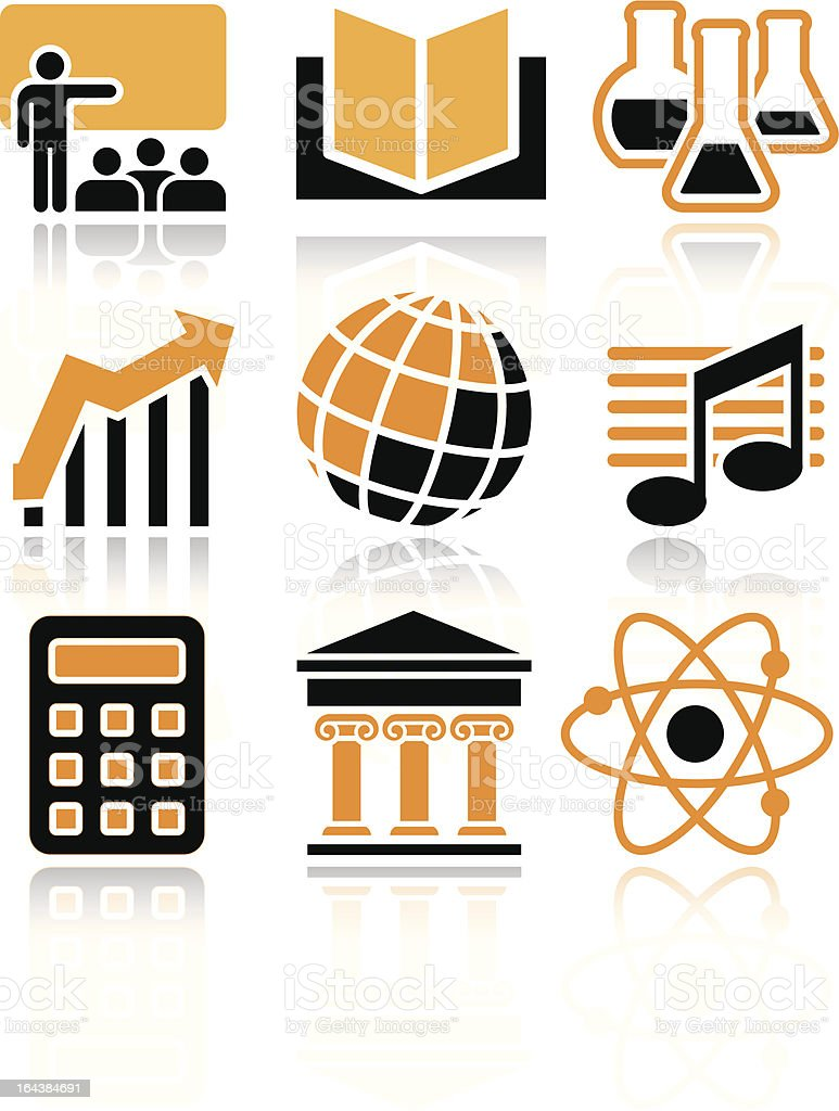 Science and education icons royalty-free stock vector art