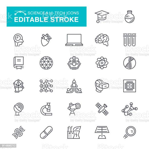 Science and hitech icons editable stroke vector id914895212?b=1&k=6&m=914895212&s=612x612&h=vr2lf4nz9rqa75pbn hasm3klt5p0vxo8p 8yv9e no=
