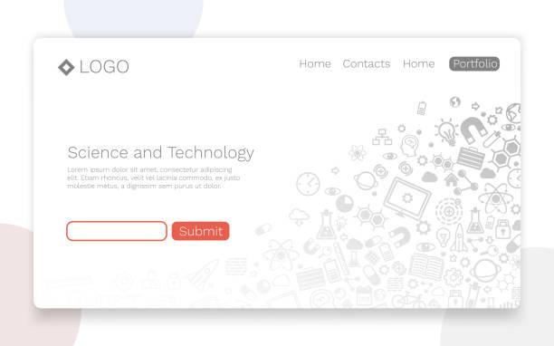 wissenschaft und technik - flat icons stock-grafiken, -clipart, -cartoons und -symbole