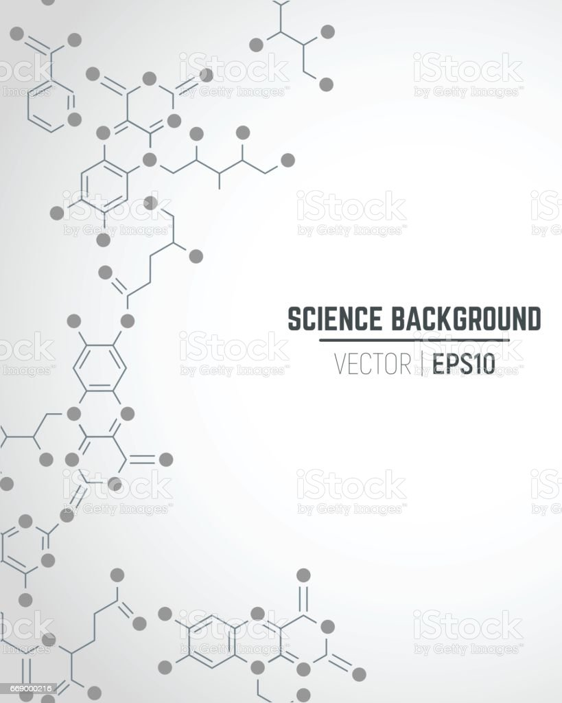 Science background - ilustración de arte vectorial