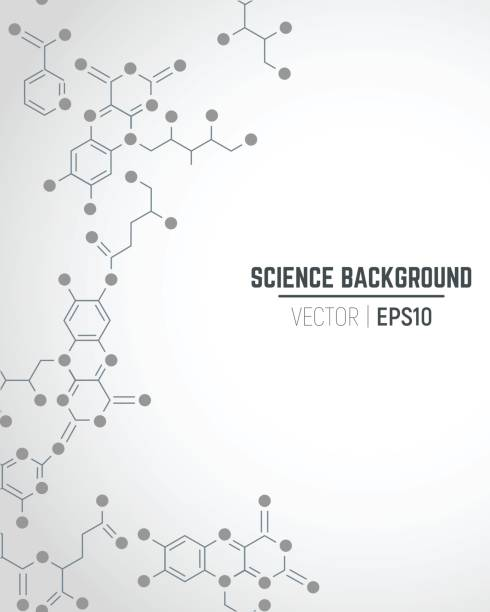 Science background Vector science ant technology concept. Real vitamins formulas connected to seamless pattern. Molecule sign. Lines and dots connected into network. Abstract vertical seamless background with gradient. molecular structure stock illustrations