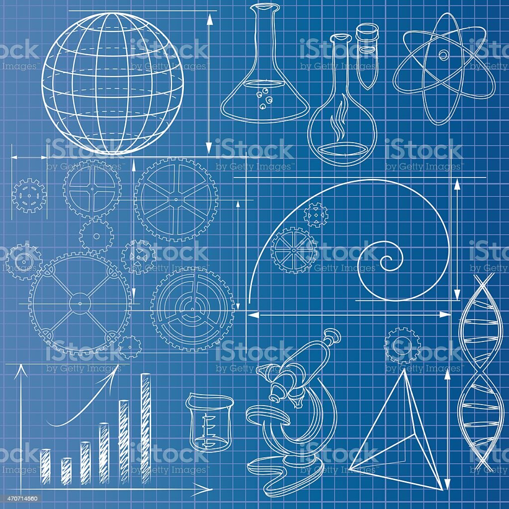 Science blueprint stock vector art more images of 2015 470714560 science blueprint royalty free science blueprint stock vector art amp malvernweather Image collections