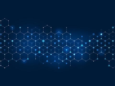 abstract hexagon scientific pattern background design